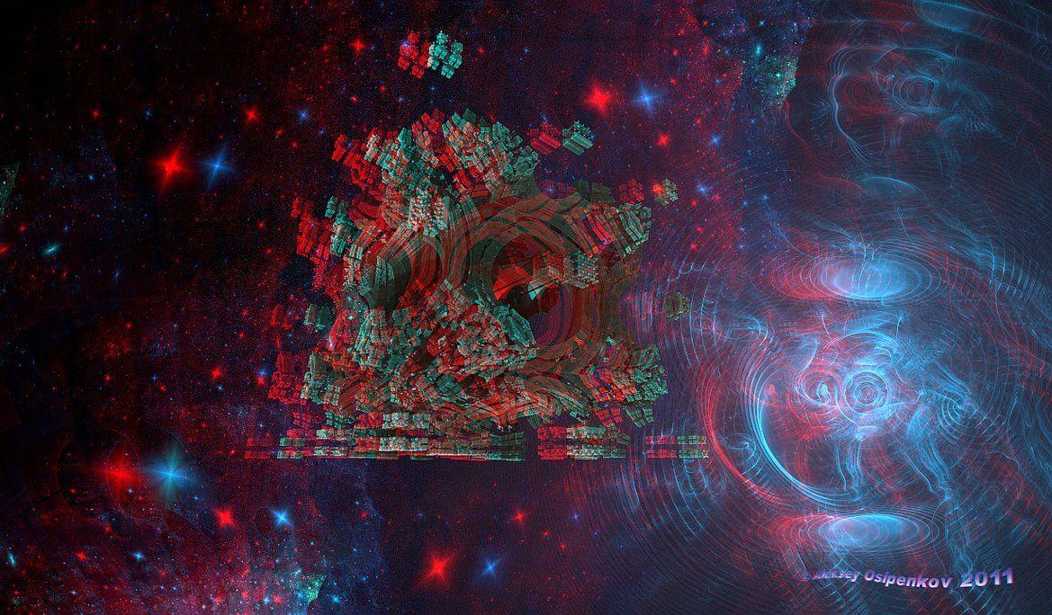 анаглиф картинки космос залы