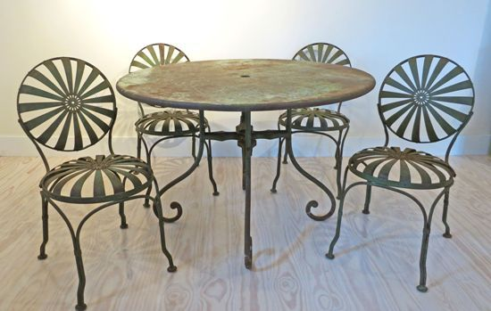 Antique Garden Furniture: Antique French Metal Garden Furniture - Antique Garden Furniture: Antique French Metal Garden Furniture