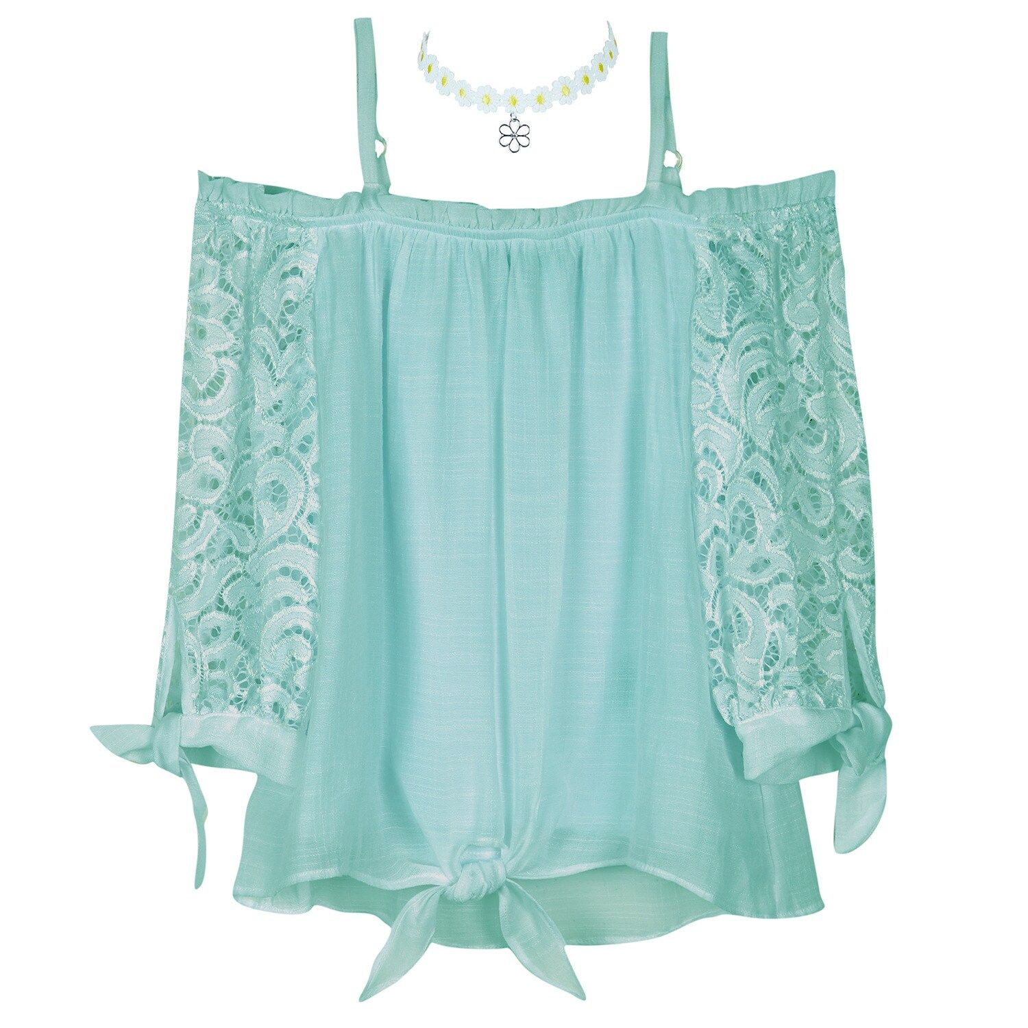 Photo of Girls 7-16 & Plus Size IZ Amy Byer Off-the-Shoulder Lace Top