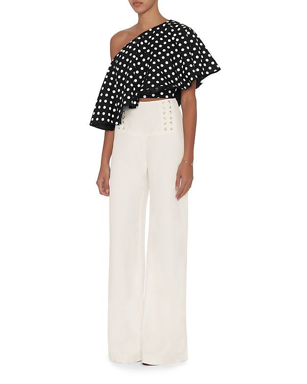 06ffbbe19db Viva Aviva EXCLUSIVE Single Shoulder Polka Dot Top: A whimsical polka dot  pattern on a playful one shoulder design keeps our look fresh and fun.