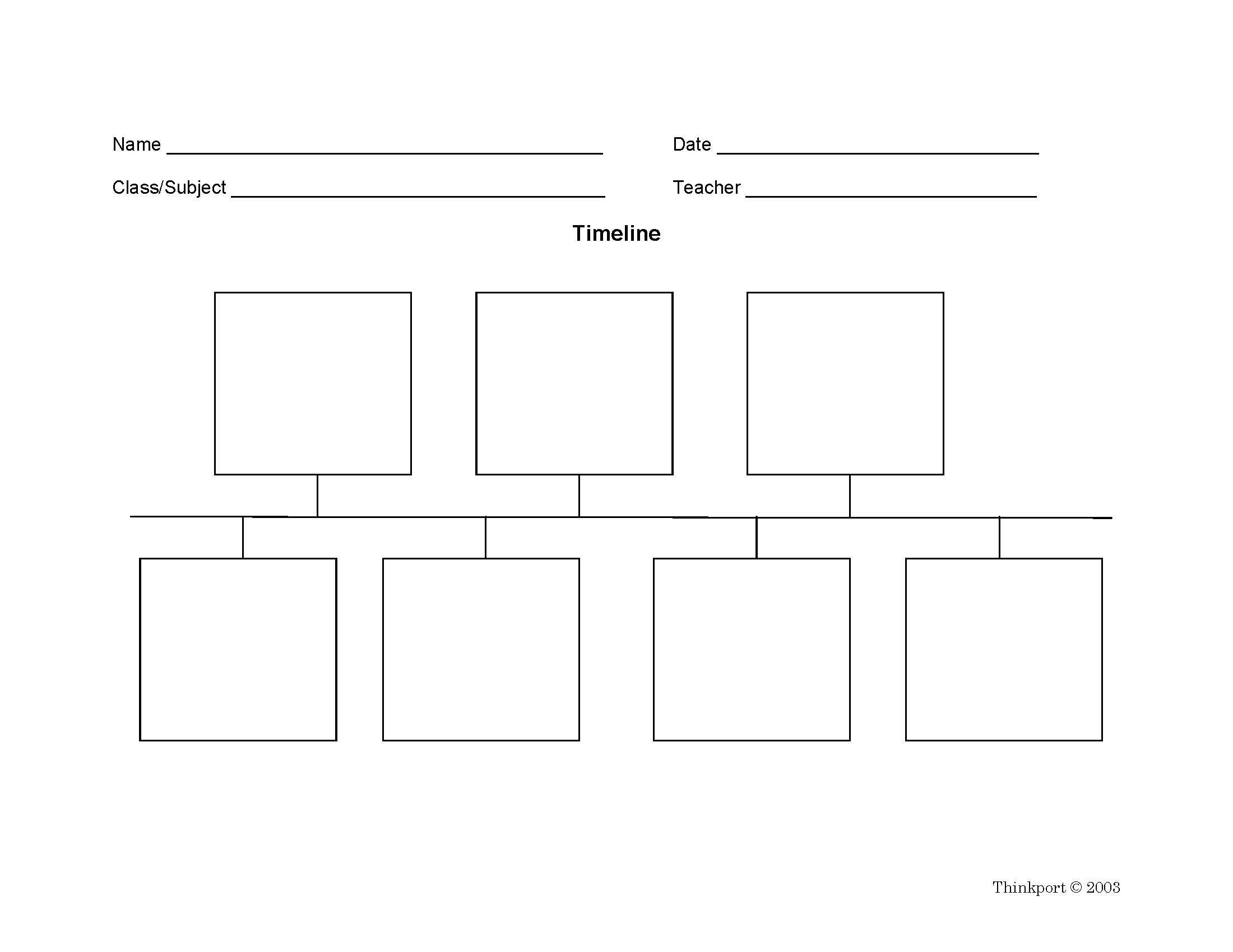 Timeline Graphic Organizers display events in sequential order.   Worksheets [ 1700 x 2200 Pixel ]