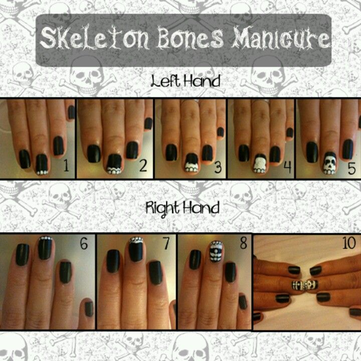 How to: skeleton manicure
