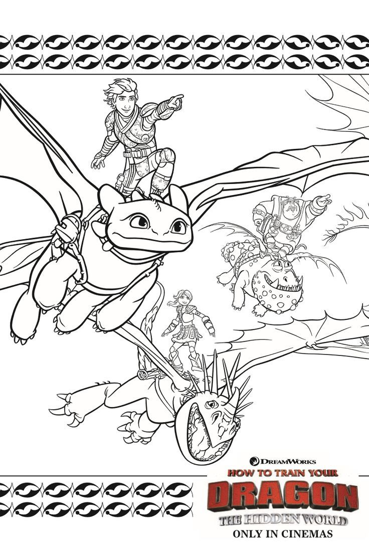 Dragons Coloring Page from How To Train Your Dragon 3 The Hidden