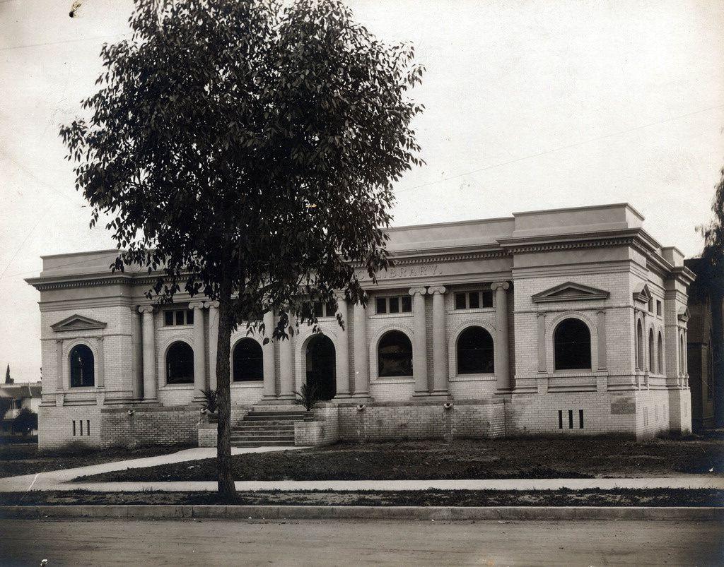 South Pasadena Public Library About 1908 South Pasadena Pasadena Cool Photos