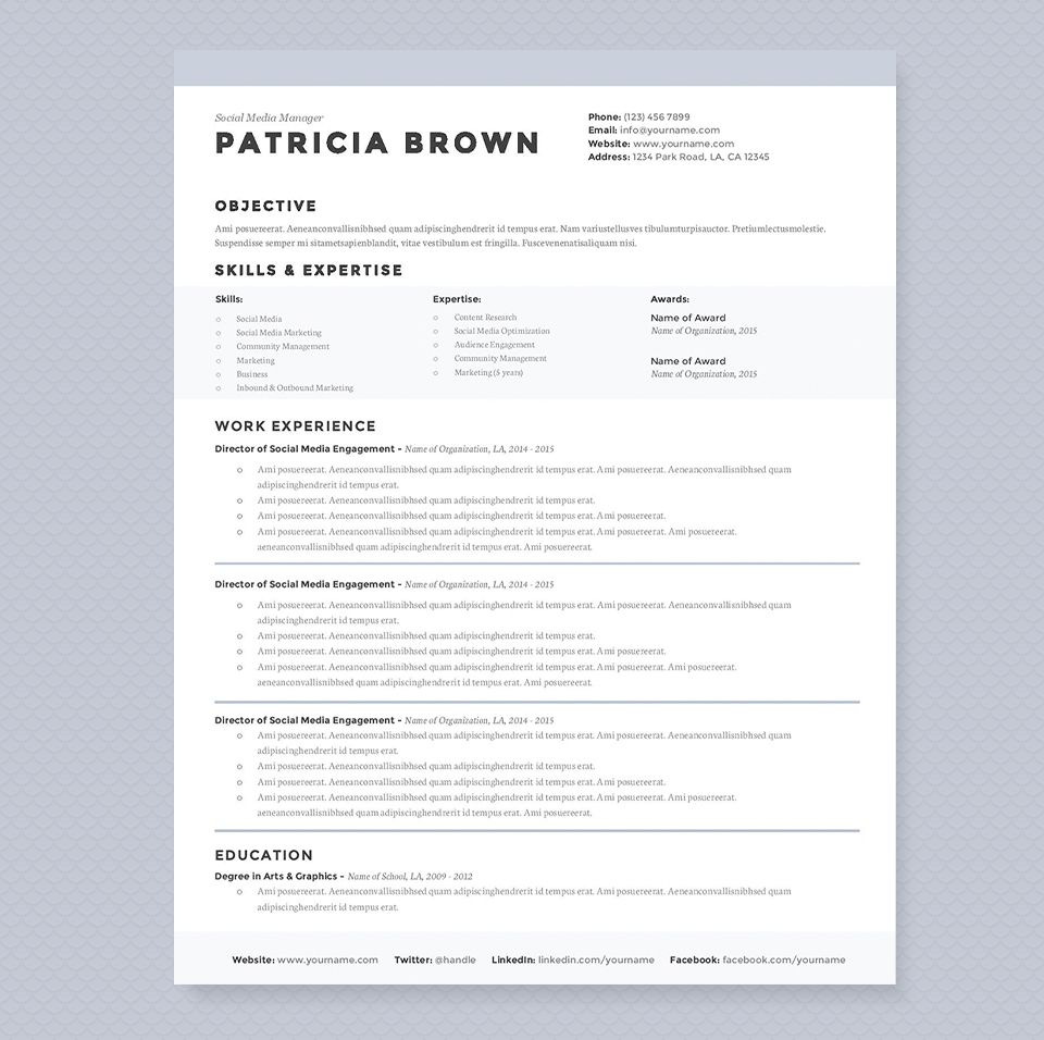 Clean Resume Template Pkg  Template Creative And Executive Resume