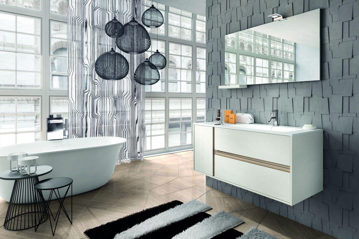 Armadietto bagno ~ Contrasti delicati nella nuova collezione di arredo bagno in