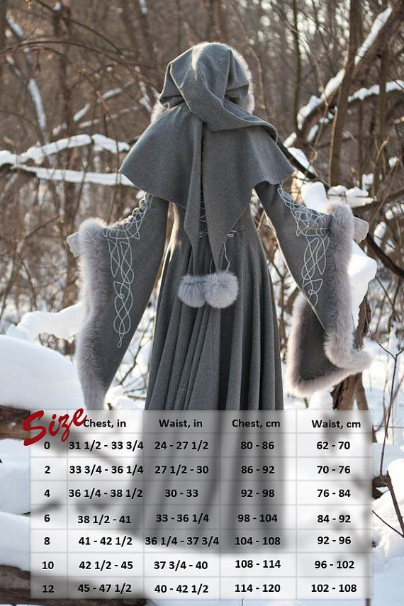 Wool Gray Fantasy Coat Heritrix of The Winter snow by armstreet