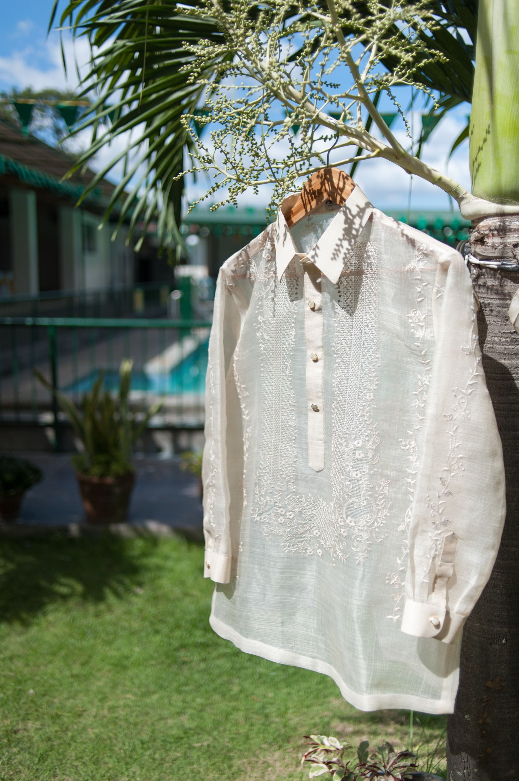 Groom's Barong Tagalog in pure pina by Primo Fine Barong