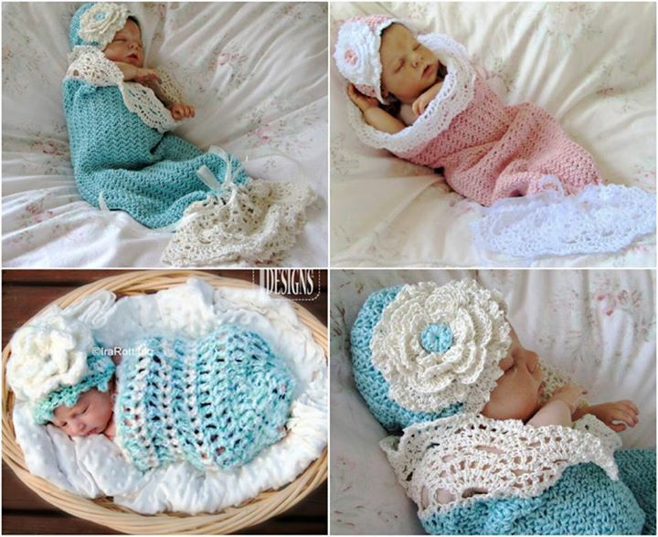 Crochet Baby Cocoon With Hat The Best Collection Tejido Crochet