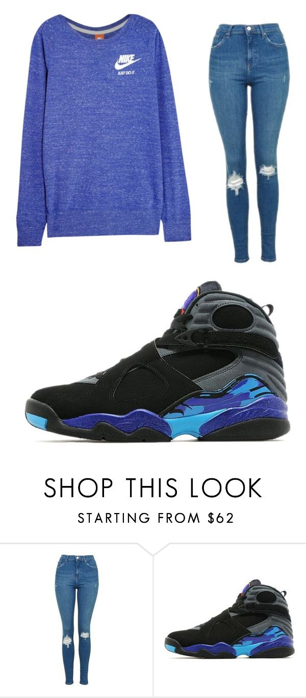 """""""Untitled #111"""" by prtty-gurl ❤ liked on Polyvore featuring Topshop, Jordan Brand and NIKE"""
