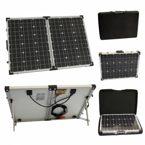 100w 12v Folding Solar Charging Kit For Camper Caravan Boat Or Any Other 12v System With Images 12v Solar Panel Solar Charging Solar Kit