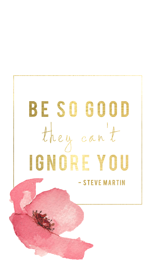 Gold floral Good quote lockscreen wallpaper background