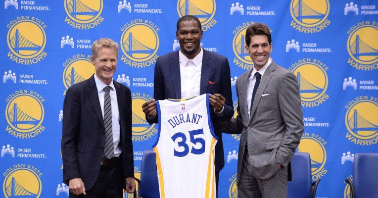 The Golden State Warriors laid it on pretty thick for Kevin Durant during their successful free-agent pitch to the NBA superstar last week. On top of having..