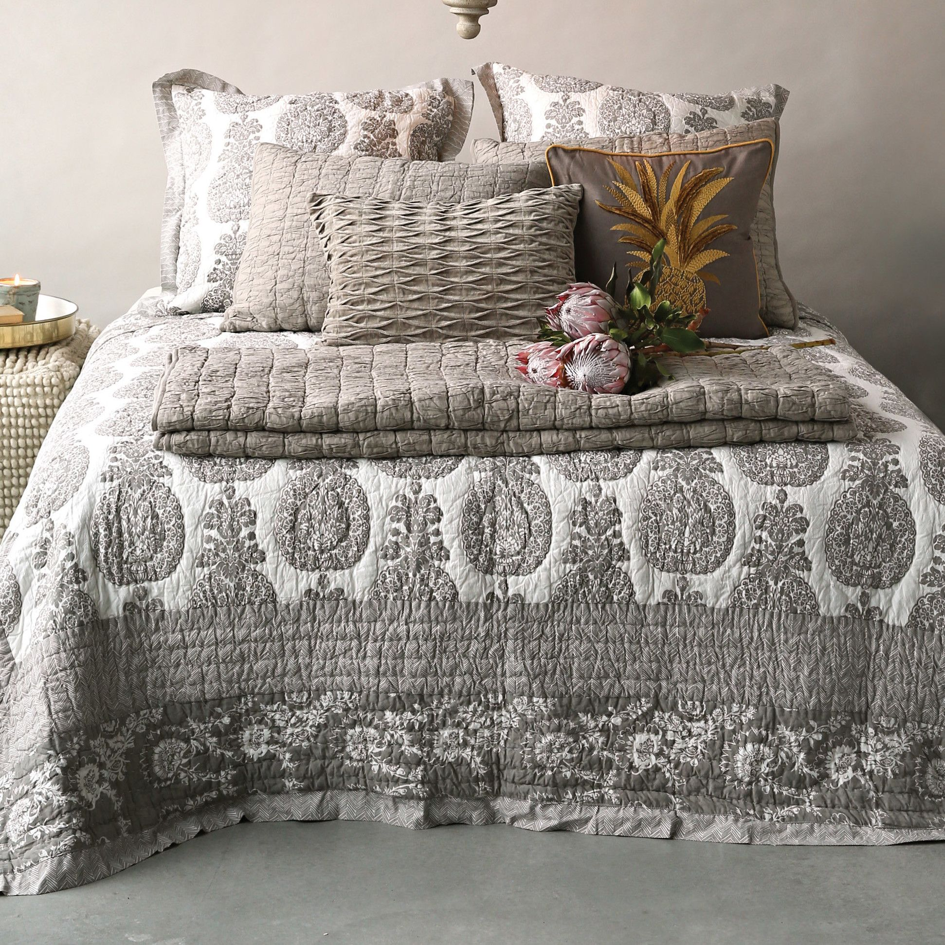 Chateau Screen Printed Bed Quilt | Products | Pinterest