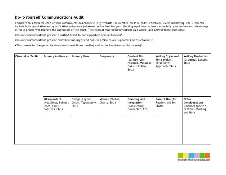 Image Result For Marketing Communications Audit Template Social   Audit  Checklist Template  Audit Form Templates