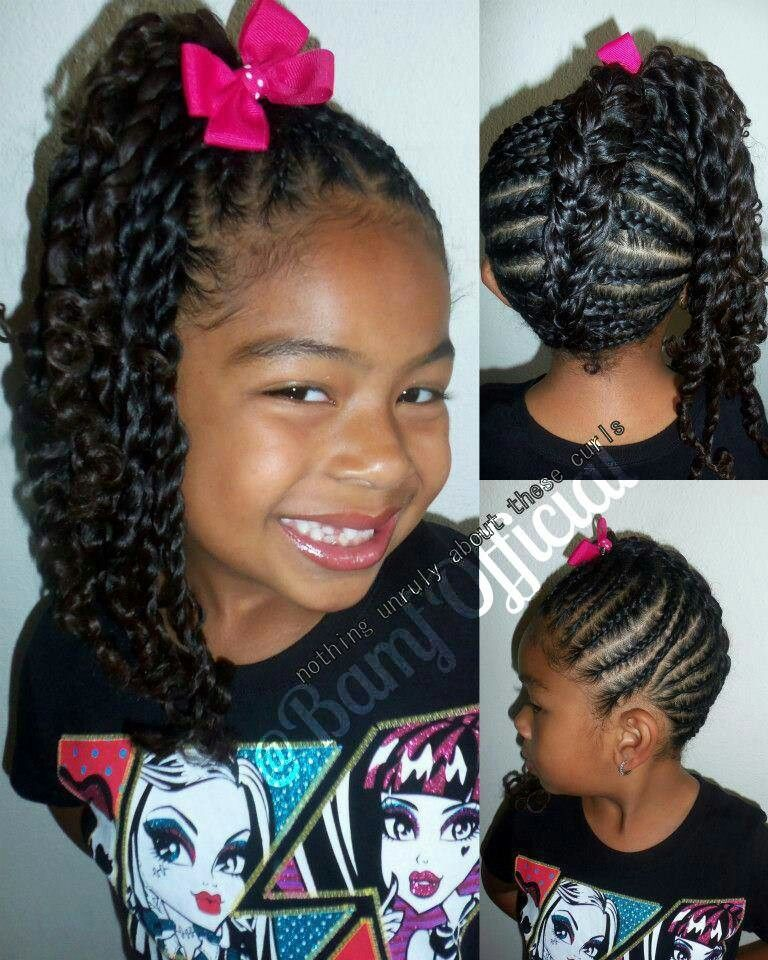 Side Ponytail Natural Hair Styles Curly Hair Styles