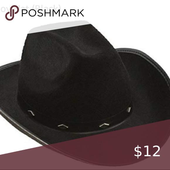 Black Cowboy Hat With Diamonds Around The Front Nwt In 2020 With Images Black Cowboy Hat Black Cowboys Cowboy Hats