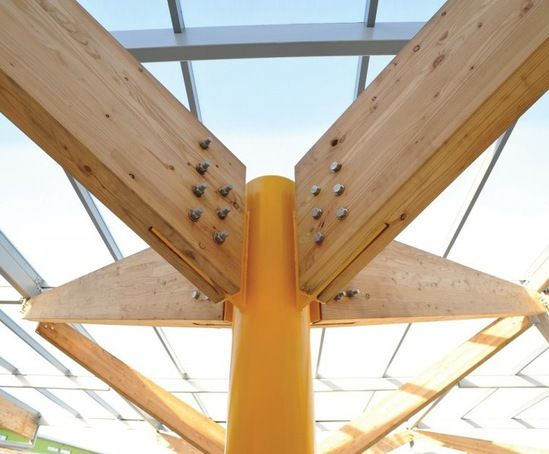 Glulam Abstraction >> Glulam Beams And Stainless Steel Fixings On Chs Frame Warehouse