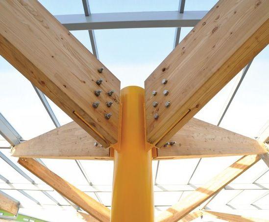 Connecting wood beams hledat googlem spojky tr m for Architectural beams