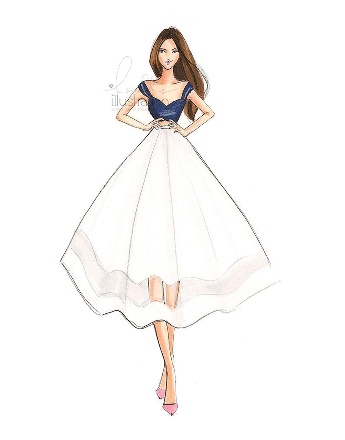 Bliss Fashion Illustration Print Etsy Moda Tasarimcilari Moda Karalamalari Moda Cizimleri
