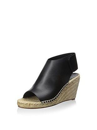 Céline Women's Open Toe Wedge Sandal (Black)