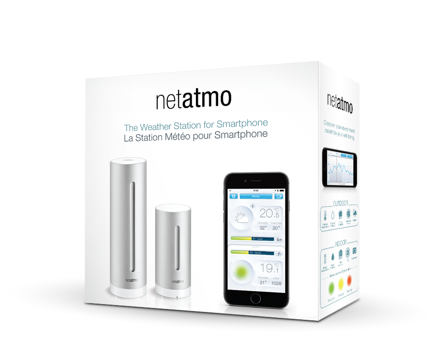 netatmo weather station i love the idea of weather stations smart home pinterest. Black Bedroom Furniture Sets. Home Design Ideas