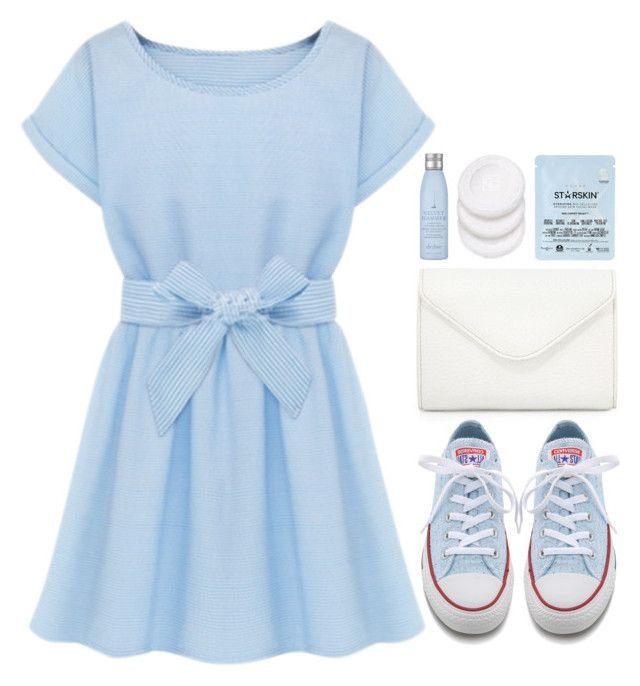 """""""you're so beautiful, so soft and sweet"""" by emilypondng ❤ liked on Polyvore featuring Neiman Marcus, Converse, Starskin, Drybar and bows"""