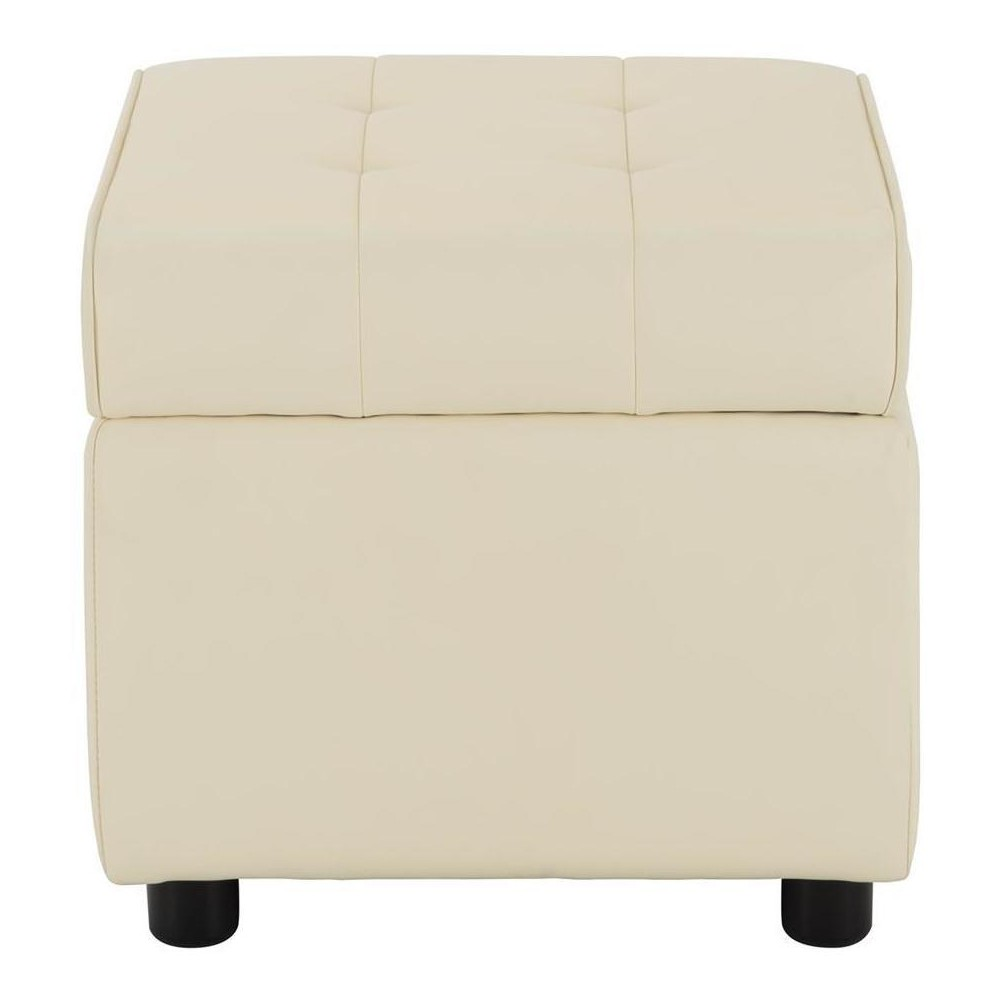Pleasing Eve Square Ottoman Vanilla Faux Leather Room Joy Cjindustries Chair Design For Home Cjindustriesco