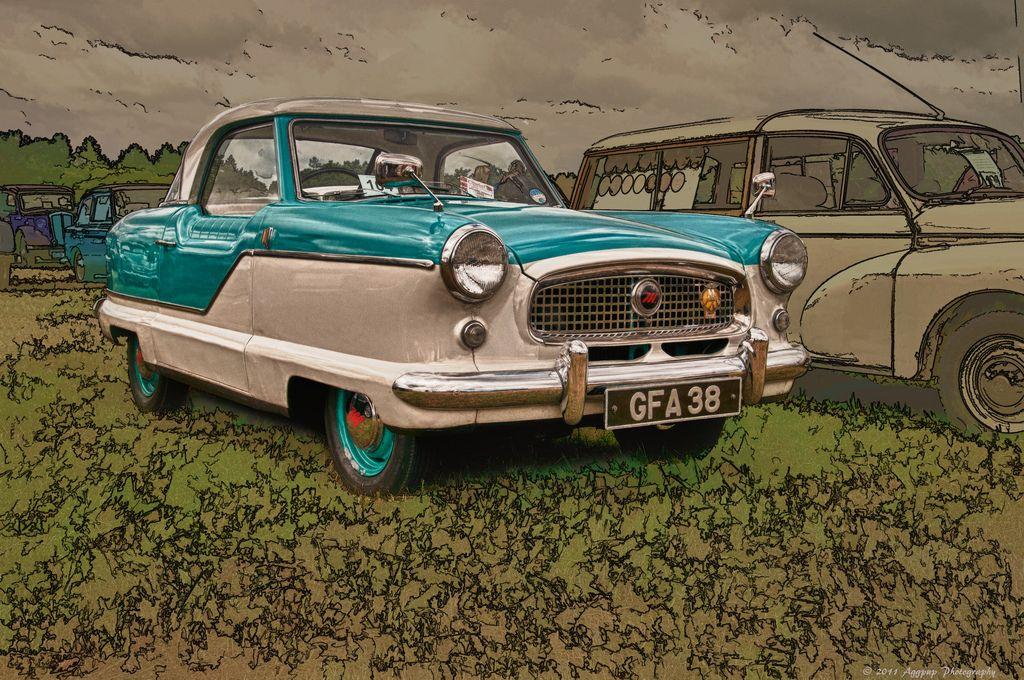 1957 Austin Metropolitan at the 2011 Cromford Steam Fair.