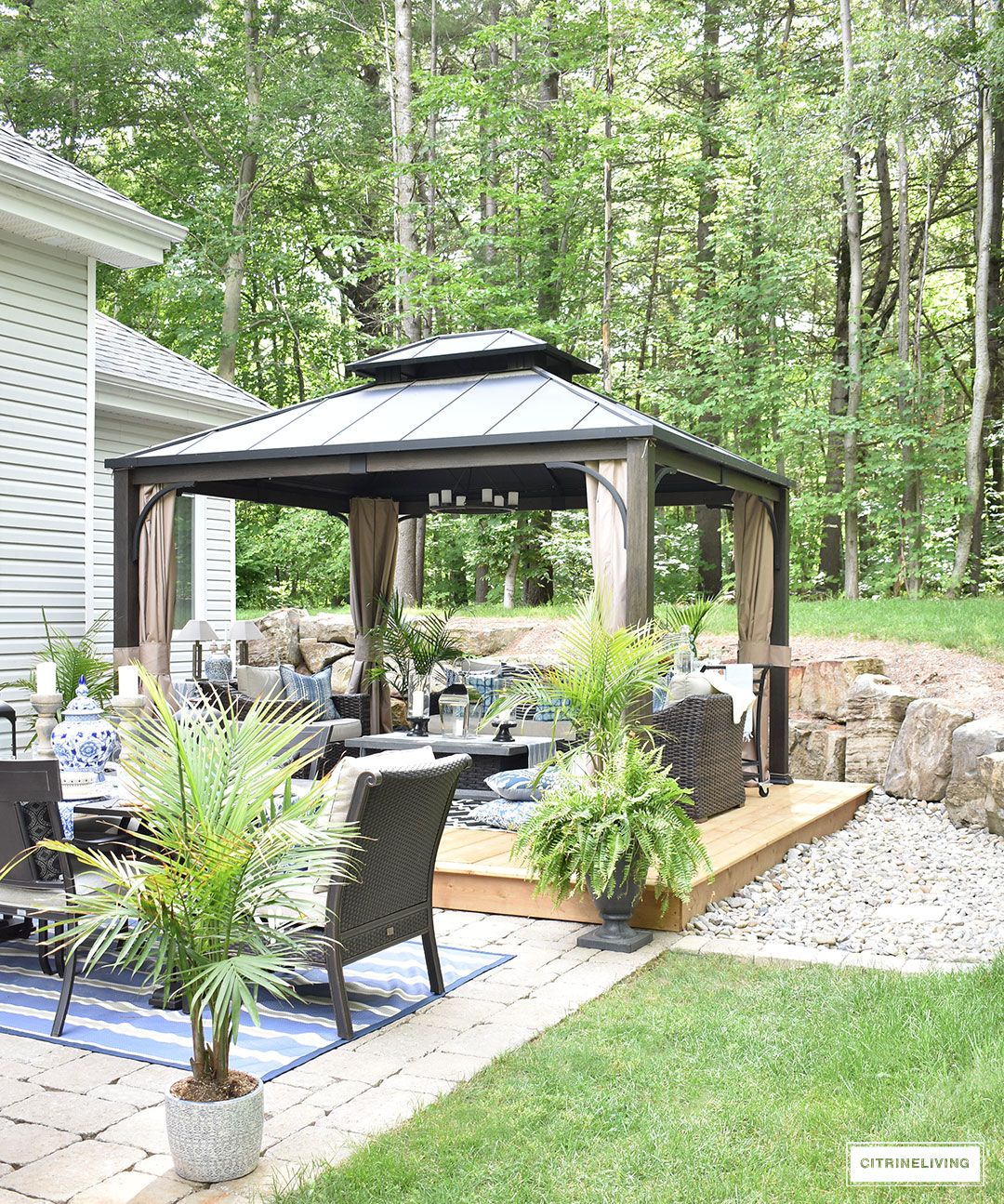Our new backyard patio reveal perfect for entertaining oasis