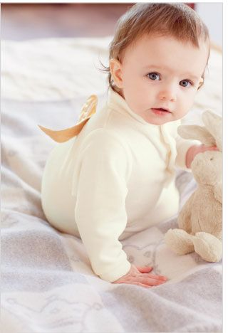 Marie Chantal Premium Baby Bodysuits Suit Velour Angel Wing Angel Wings New