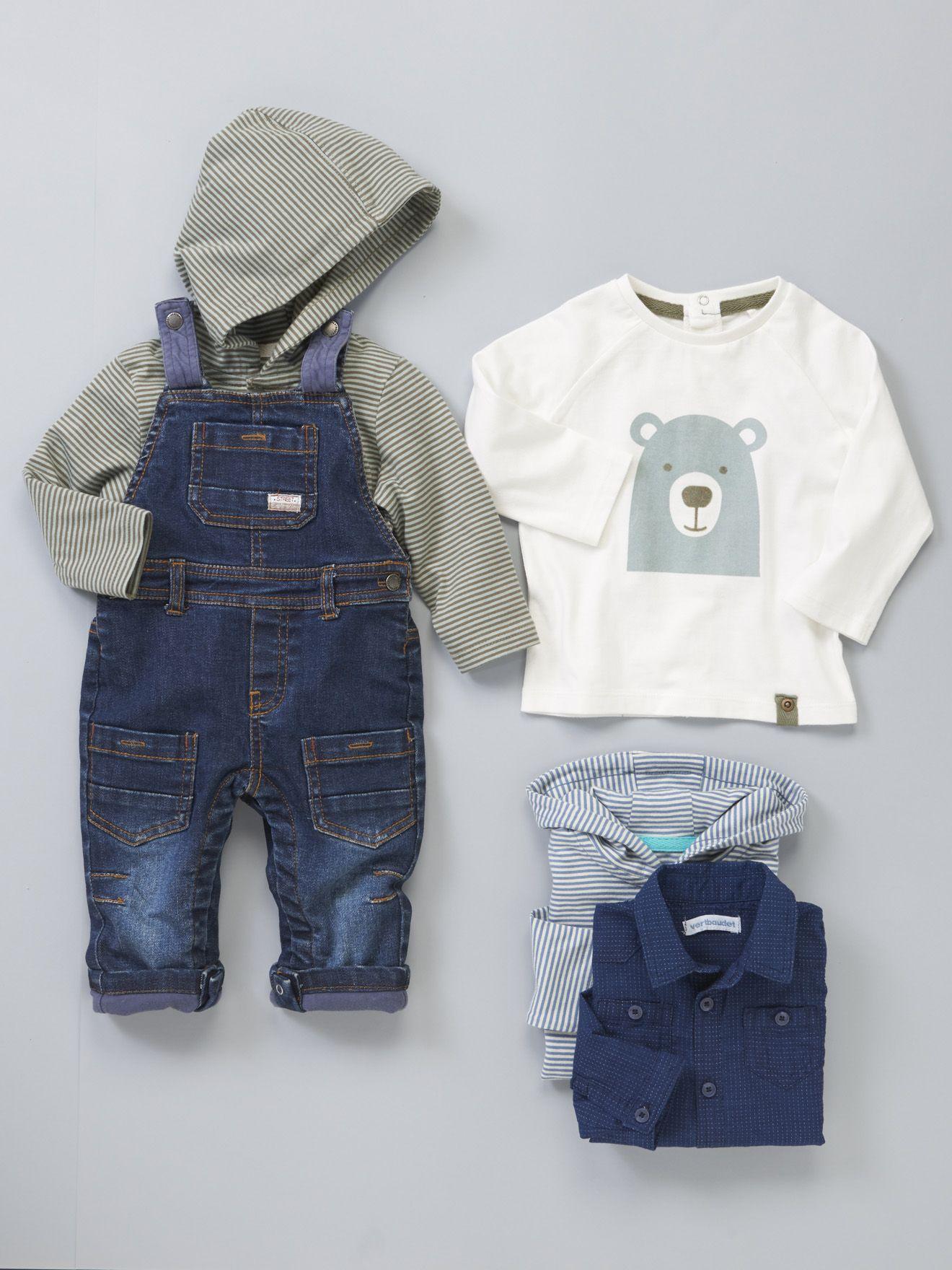 8c43b47e2a2e2  salopette  denim bébé garçon Collection Automne-Hiver 2015 - www.vertbaudet .fr
