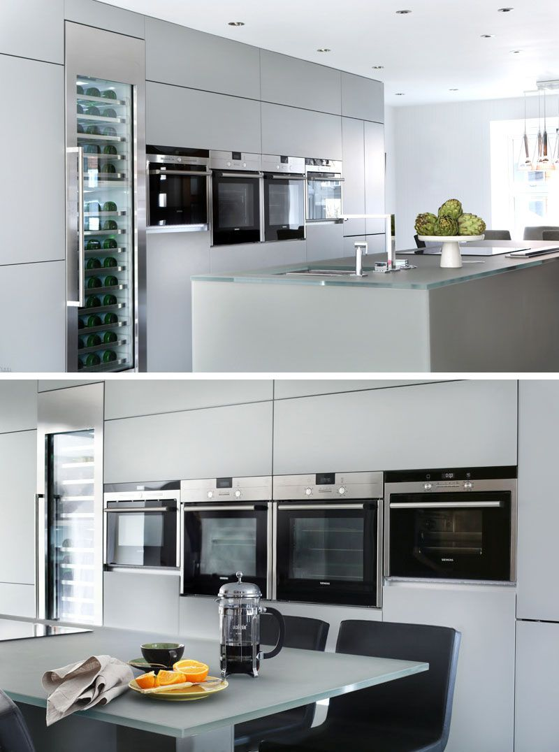 12 Examples Of Sophisticated Gray Kitchen Cabinets // A sleek wall ...