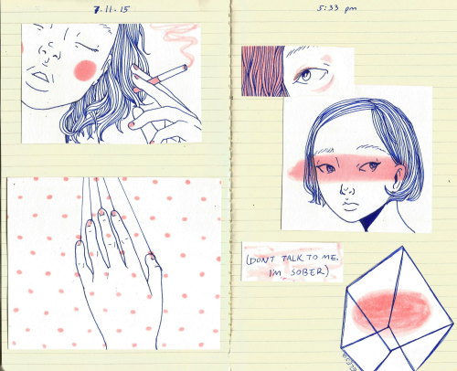 ebriosity: 7.11.15 - journalI doodled a bit so I taped it to a page(Photo ref) art blog ✨