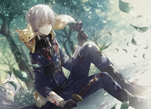 Image result for white hair yellow eyes anime boy