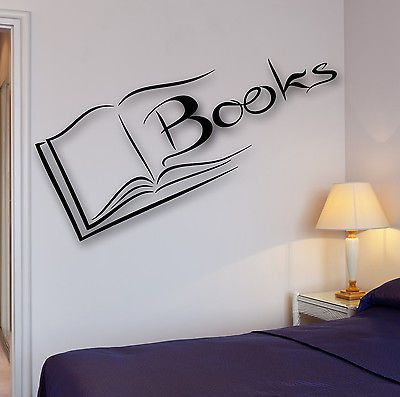 Vinyl Decal Books Wall Sticker Reading Room Library Science Decor