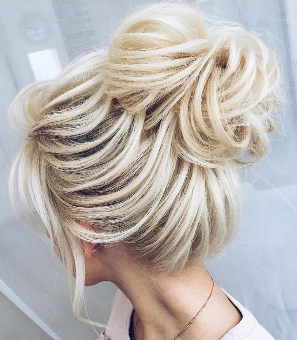 35 Easy and Pretty Top Knot Hairstyles in 2019 | Bouffant hair, Hair knot, Blonde bun