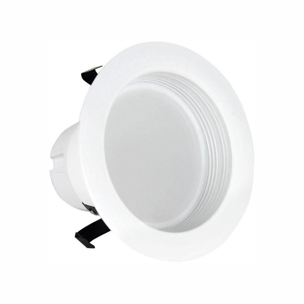 Feit Electric 50w Equivalent Soft White 4 In White Baffle Trim Recessed Retrofit Downlight Led 90 Cri Maintenance Pack 24 Pack Ledr4 927 Mp 6 4 Downlights Energy Efficient Lighting Led