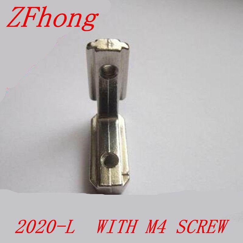 T Slot L Shape Type 90 Degree 2020 Aluminum Profile