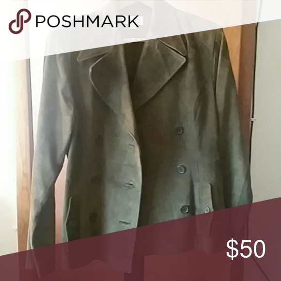 Green suede jacket Green suede jacket. Excellent used condition finity Jackets & Coats Pea Coats
