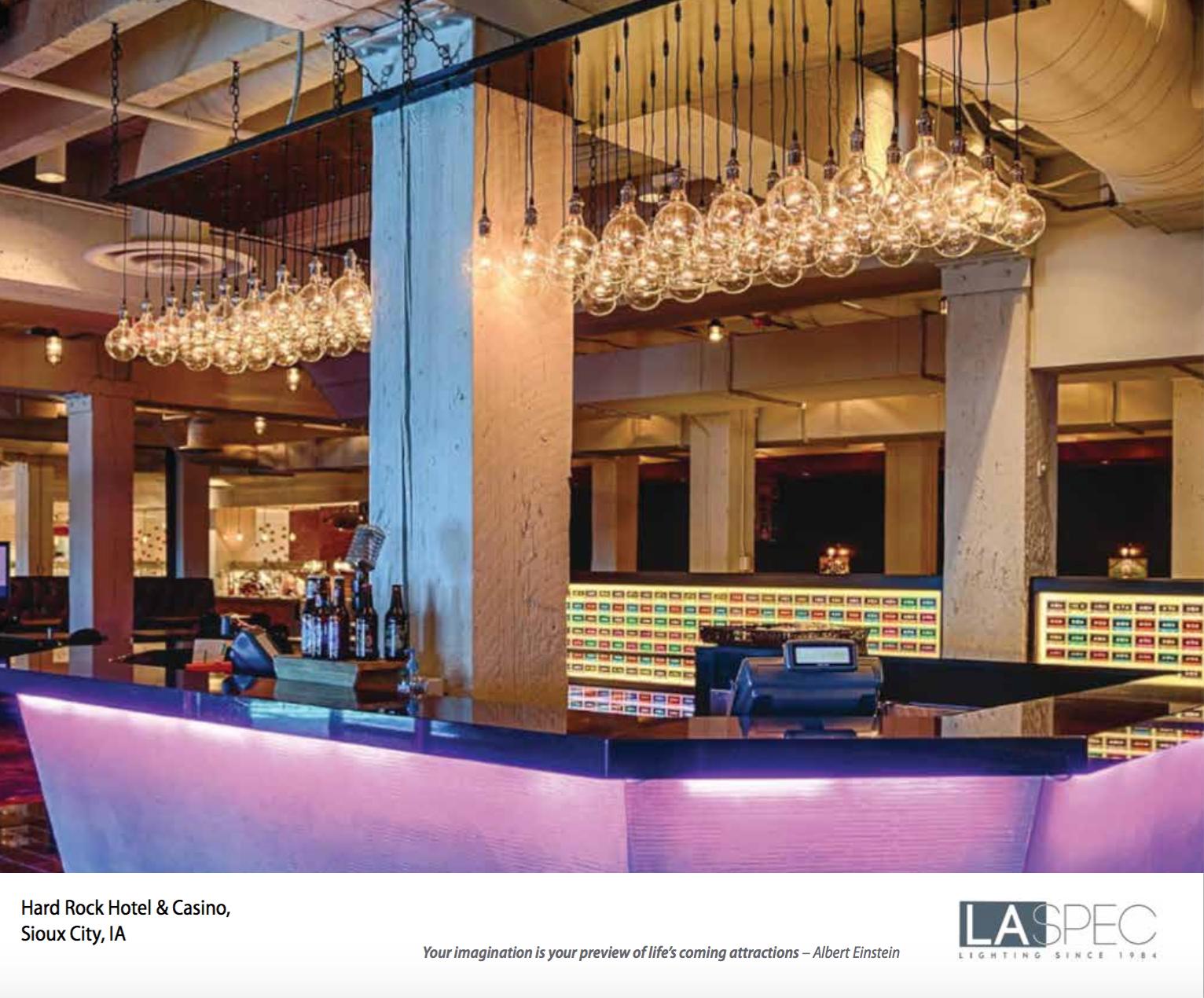 Custom Lighting By Laspec For Hard Rock Hotel And Casino Sioux City Ia Custom Lighting House Styles Hard Rock Hotel