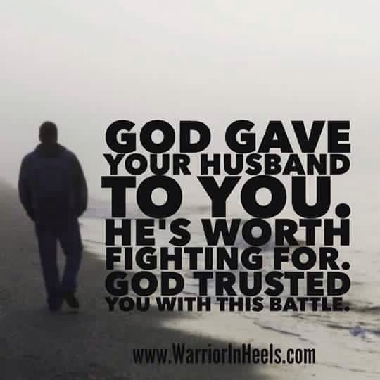 Glory! Your marriage is worth fighting for!! Your marriage