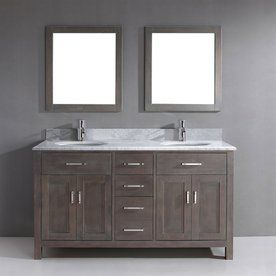 2 sink bathroom vanity. Spa Bathe Kenzie French Gray Undermount Double Sink Bathroom Vanity With  Natural Marble Top Common