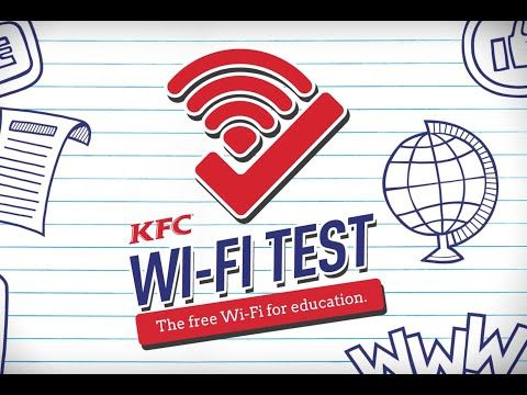 KFC: The WiFi Test Campaign | KFC free wifi to students by answering