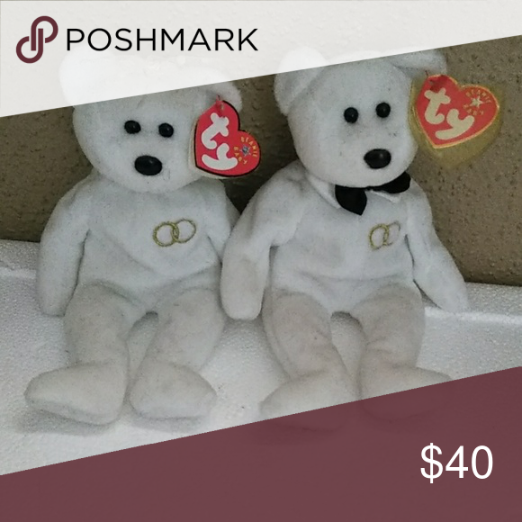 45bf79971c6 Bride and groom Beanie babies Bride and groom teanie babies have 3 sets Ty  Beanie Baby Other