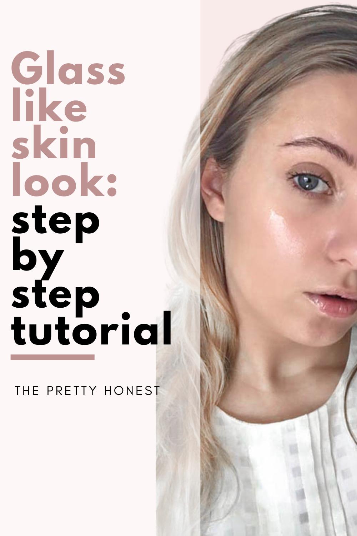 Glass skin step by step skin tutorial using sleeping mask