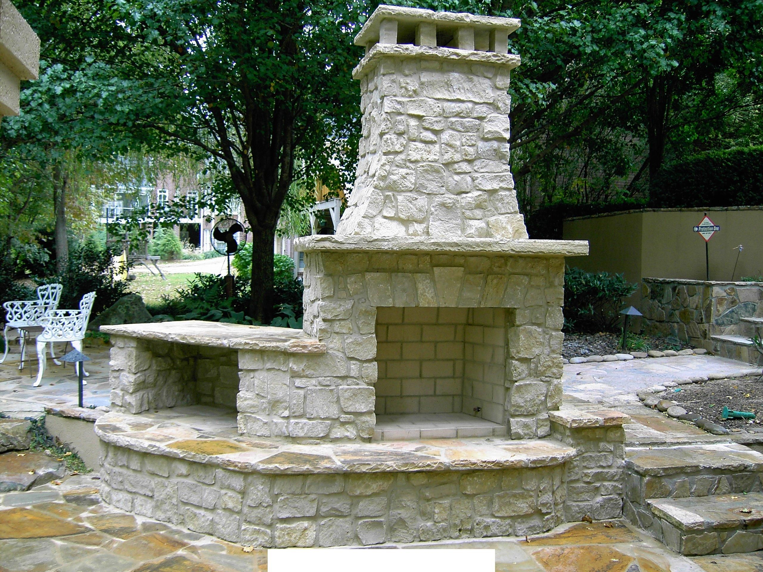 daco stone outdoor fireplaces and more outdoor stone fireplace