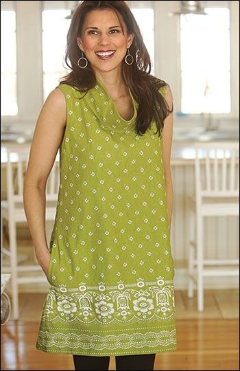 Urban Tunic sewing pattern by Indygo Junction created in Soho Bandana fabric