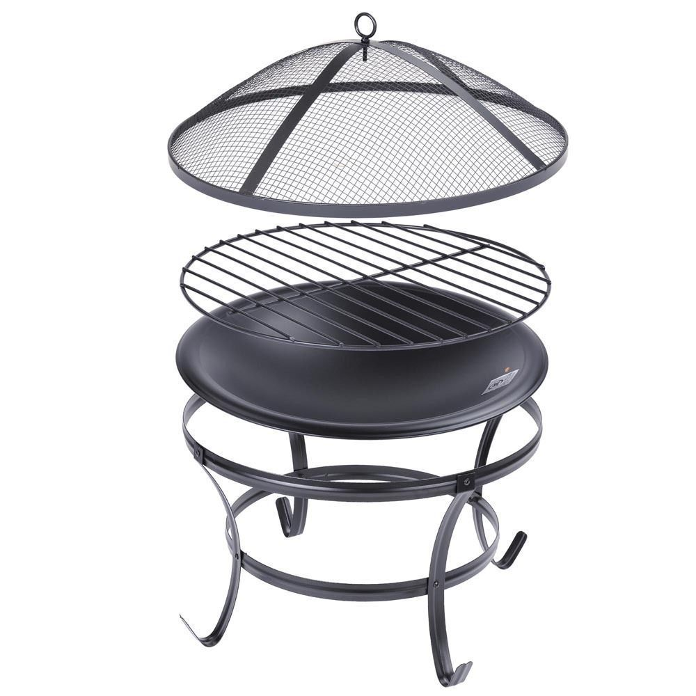 patio fire pit backyard grill outdoor metal stove fireplace heater