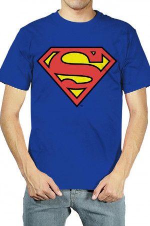 8456e0541fb Playeras para Hombres con Logo de Superman Azul. Si quieres ver mas ...